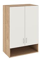 Шкаф над стиральной машиной навесной: 2 двери и ниша