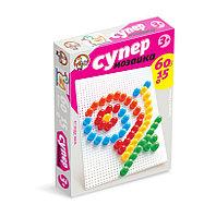 Пластмассовая мозаика для детей «Супер», 60 элементов