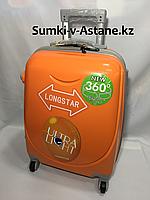 Маленький пластиковый дорожный чемодан на 4-х колесах Longstar.Высота 53 см, ширина 33 см, глубина 22 см., фото 1