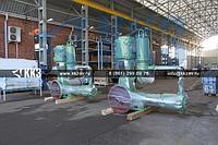Компрессор для сжатия газа поршневой промышленный угловой