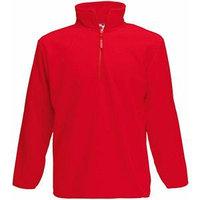 Толстовка мужская ZIP NECK MICRO 250, Красный, 2XL, 625560.40 2XL