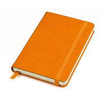 """Бизнес-блокнот """"Casual"""", 115 × 160 мм,  оранжевый, твердая обложка, резинка 7 мм, блок-клетка, Оранжевый, -,"""