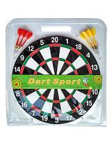 Набор для игры в Дартс {большая двухсторонняя мишень + 6 дротиков}, фото 2