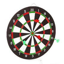 Набор для игры в Дартс {большая двухсторонняя мишень + 6 дротиков}, фото 3