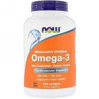 Now Foods, Омега-3, очищенная на молекулярном уровне, 200 мягких капсул из рыбьего желатина