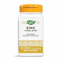 Цинк, Хелат цинка, Nature's Way 30 мг, 100 капсул