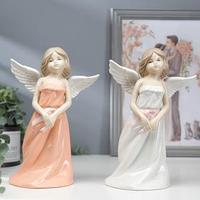 Сувенир керамика 'Девушка-ангел в сарафане'МИКС 20,7х14х8,2 см