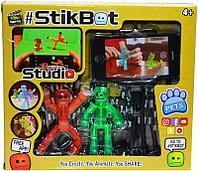 Помятая коробка!!! 201 Стикбот  снимаем фильм фигурка StickBot и штатиф для телефона 21*18см (аналог,реплика)