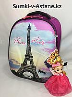 """Школьный ранец """"IMPREZA"""" для девочек,1-2 класс.Высота 37 см, ширина 27 см, глубина 17 см."""