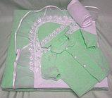 Комплект на выписку БАЛУ МАЛЫШ салатовый(зеленый) бязь ВЕСНА-ОСЕНЬ 8 пр