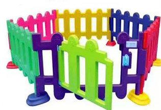 Детский игровой заборчик низкий, секционный (1 метр), фото 3