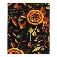 Записная книжка А4, 200 листов 'Волшебный сад', сшивная, твёрдая обложка, матовая ламинация, тиснение фольгой,