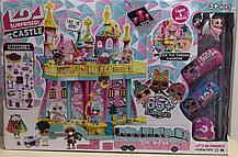 Большой замок LOL ( лол) 2 этажный с мебелью, шар, 2 капсулы + 2 куклы лол с волосами (КАЧЕСТВЕННЫЙ АНАЛОГ)