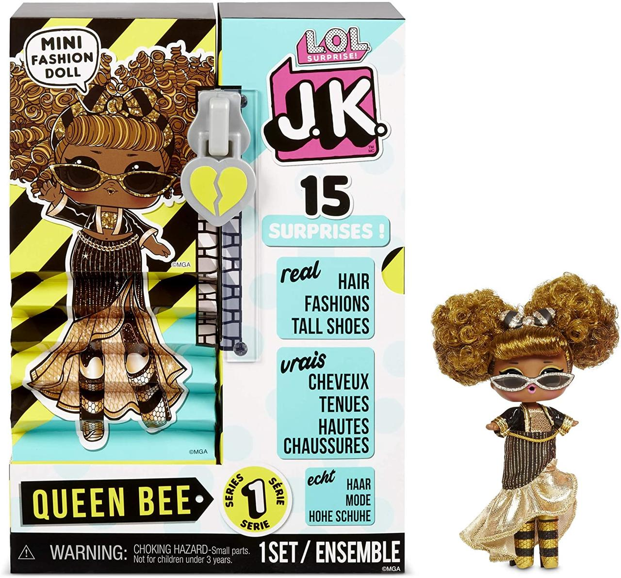 LOL Surprise J.K. Мини Модная Кукла Куин Би (Queen Bee), 1 серия, ЛОЛ Сюрприз