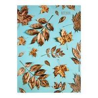 Записная книжка А4, 120 листов 'Золотые листья', сшивная, твёрдая обложка, матовая ламинация, выборочный лак,