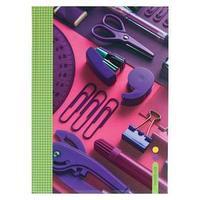 Записная книжка А4, 120 листов, сшивная 'Яркий офис', твёрдая обложка, матовая ламинация, выборочный лак, блок