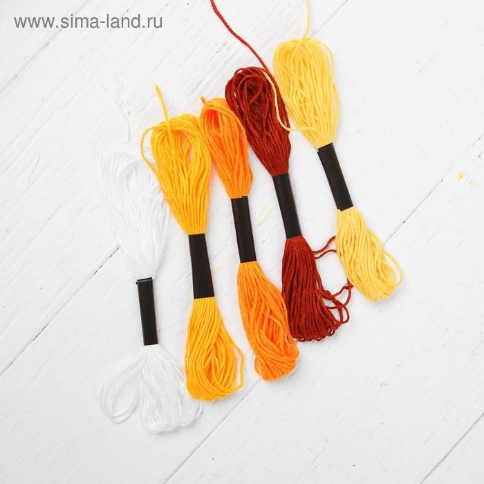 Аппликация нитками «Лев», А4, 29,7 х 21 см. Набор для творчества - фото 4