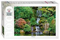"Step Puzzle: пазл 1000 деталей  ""Водопад в японском саду"""