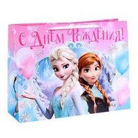Пакет ламинированный горизонтальный 'Счастливого праздника!' Холодное сердце, 46 х 61 см