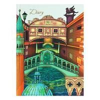 Ежедневник недатированный А5, 152 листа 'Графика. Архитектура Венеции', твёрдая обложка, матовая ламинация,