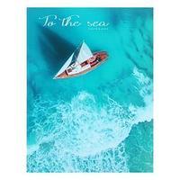 Записная книжка А4, 128 листов 'Круиз на яхте', сшивная, твёрдая обложка, глянцевая ламинация, тонированный
