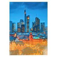 Записная книжка А4, 128 листов 'Огни города', твёрдая обложка, глянцевая ламинация, тонированный блок