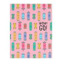 Записная книжка А5, 96 листов WOW! GO! 'Дизайн-2', интегральная обложка, матовая ламинация, тонированный блок