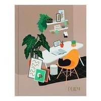 Ежедневник недатированный А6, 112 листов 'Уютная комната', твёрдая обложка, матовая ламинация, тиснение