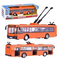 Игрушечный троллейбус «Автопарк Маршрут» PLAY SMART арт.9690, рсцетки в ассортименте