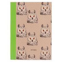 Записная книжка А5, 96 листов 'Совы и филины. Дизайн-1', интегральная обложка, матовая ламинация, блок 70 г/м2