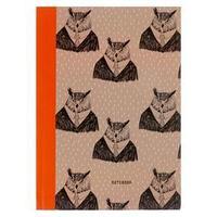 Записная книжка А5, 96 листов 'Совы и филины. Дизайн-4', интегральная обложка, матовая ламинация, блок 70 г/м2