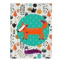 Записная книжка А6, 80 листов 'Королевство лисы', сшивная, твёрдая обложка, матовая ламинация, выборочный лак,