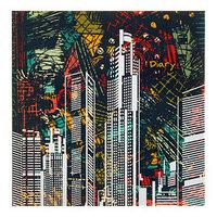 Ежедневник недатированный 130 х 131 мм, 128 листов 'Графика. Яркий город', твёрдая обложка, матовая ламинация
