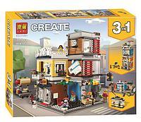 Конструктор Аналог лего Lego: 31097 Creator 3in1 Lari Bela 11401 Зоомагазин и кафе в центре города