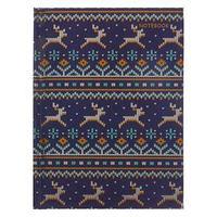 Записная книжка А6, 80 листов, сшивная 'Свитер с оленями', твёрдая обложка, металлизация, блок 60 г/м2