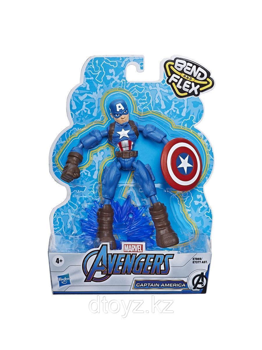 Фигурка Капитан Америка Мстители 15 см Бенди
