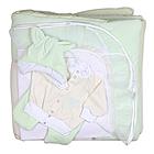 Комплект на выписку БАЛУ МАХА и ЖУЖА зеленый( салатовый) ш156 12 пр
