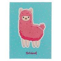 Записная книжка А6, 110 х 145, 64 листа, сшивная 'Розовая лама', твёрдая обложка, матовая ламинация,