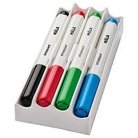 Фломастер для доски МОЛА 4 шт. разные цвета ИКЕА, IKEA, фото 1