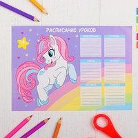Расписание уроков 'Пони' А5 (комплект из 50 шт.)