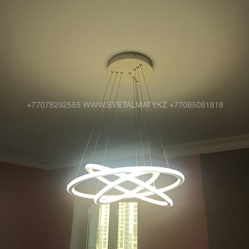 LED люстра в современном стиле Хай-тек 3 Кольца