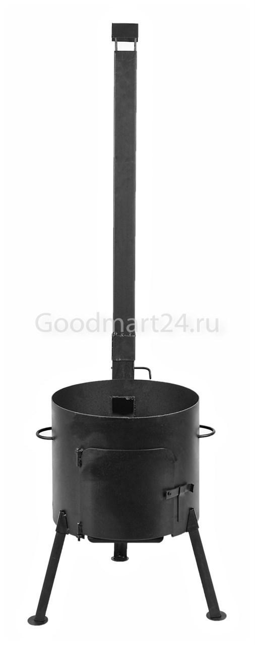 Печь с трубой под казан 16 л. D-410 мм. сталь 3 мм. разборная, усиленная