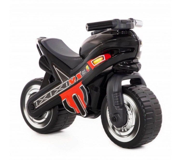 """Каталка-мотоцикл """"МХ"""" Полесье черная"""