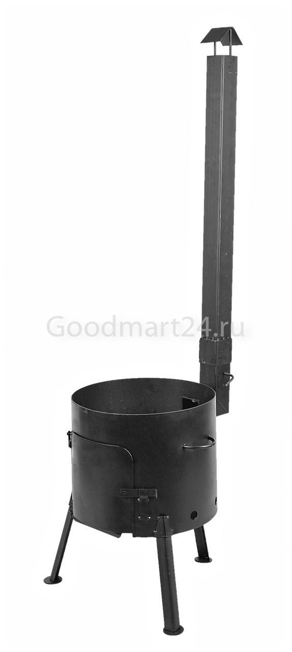 Печь с трубой под казан на 10-12 л. D-360 мм. сталь 3 мм. Усиленная