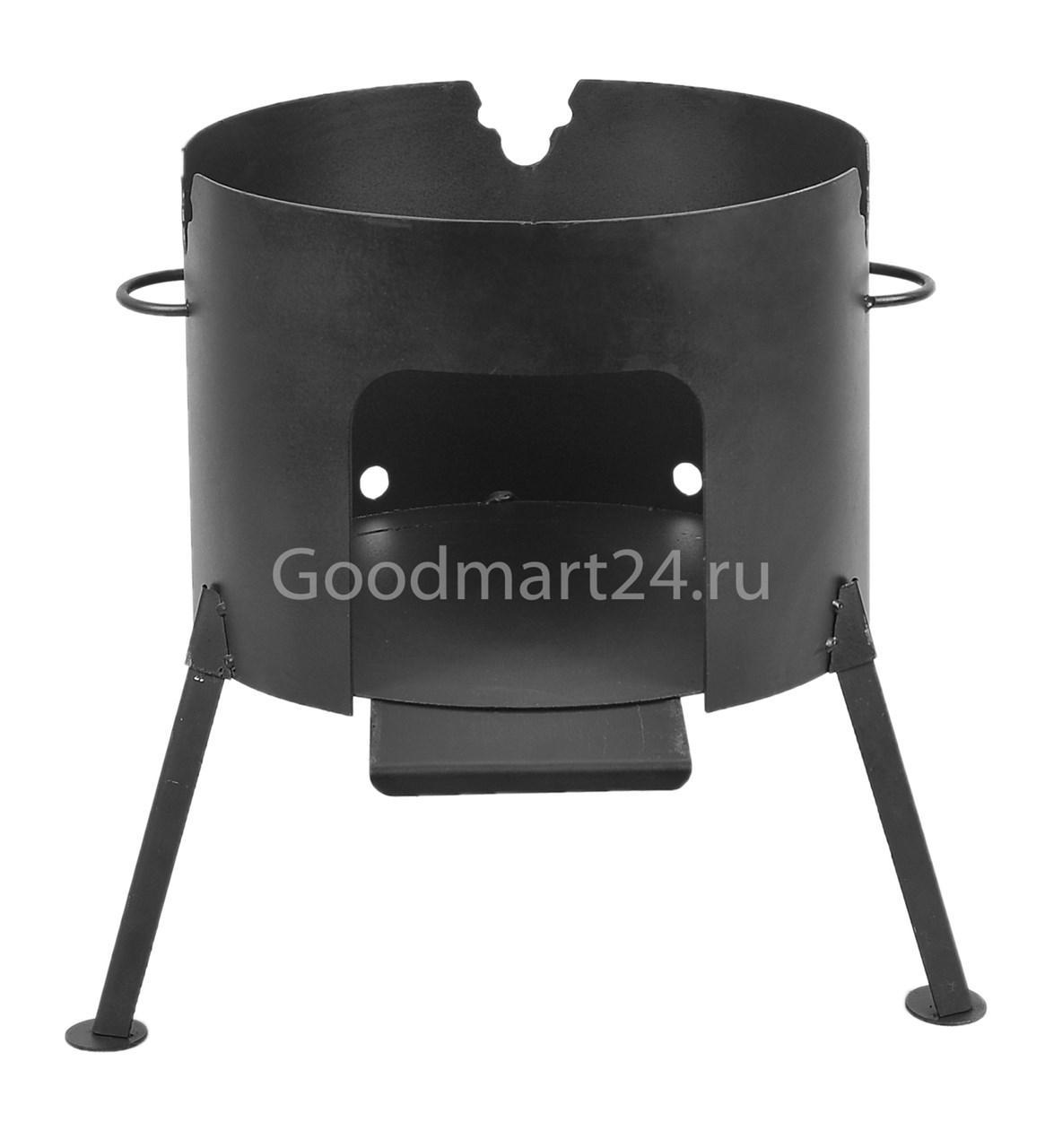 Печь под казан на 4 л. D-280 мм. сталь 2 мм.