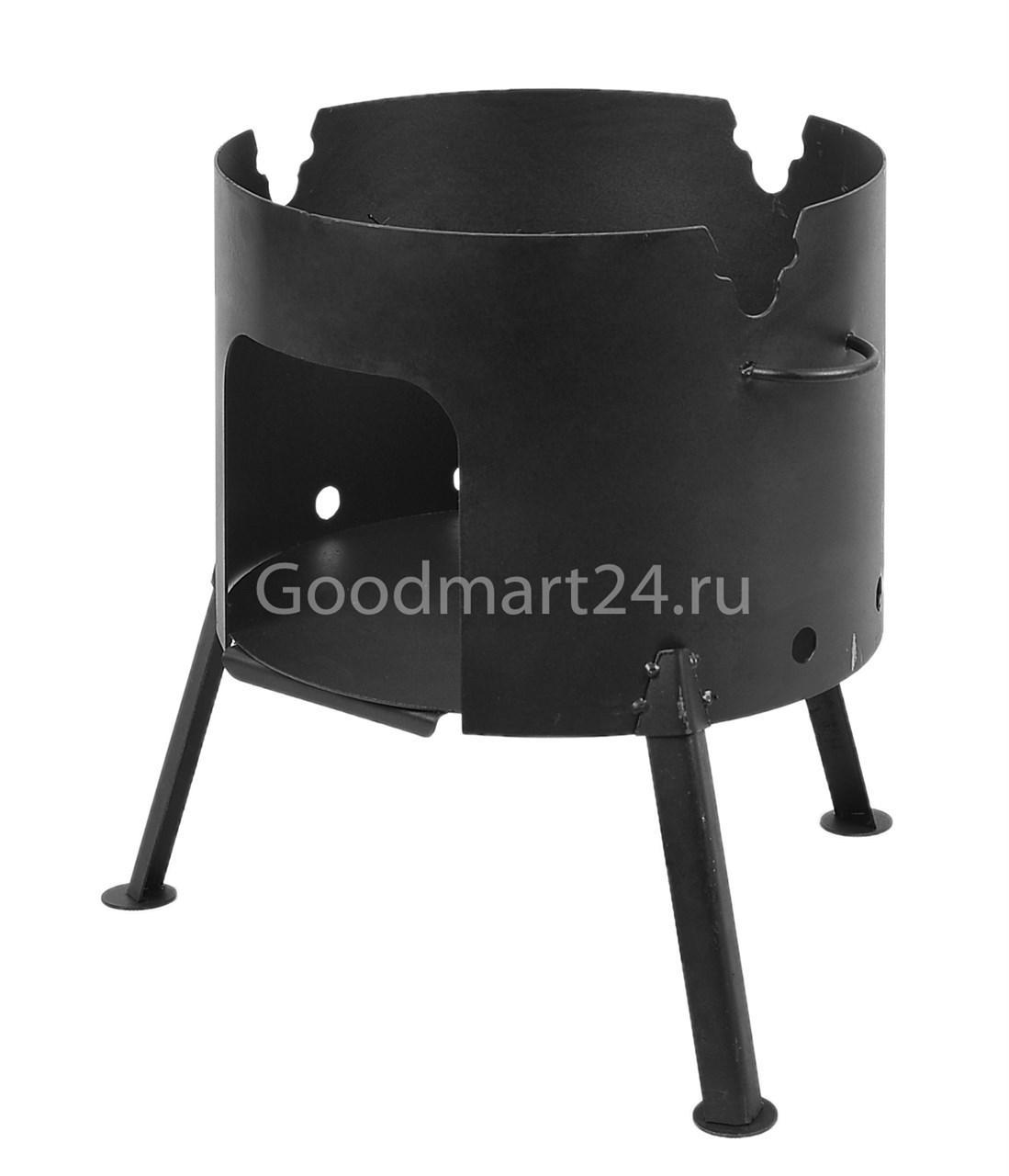Печь под казан на 6 л. D-320 мм. сталь 2 мм.