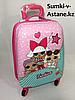 Детский чемодан на 4-х колесах,для девочек 5-7 лет.Высота 46 см, ширина 30 см,глубина 22 см.