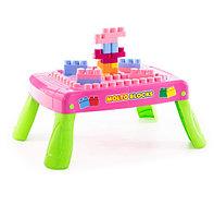 Набор игровой с конструктором (20 элементов) в коробке (розовый)
