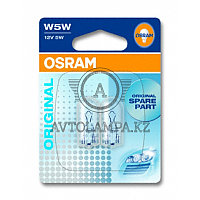 2825-02B Лампа качество (ОЕМ) W5W 12V 5W W2.1x9.5d ORIGINAL LINE уп. 2 шт. 1х контактная лапмпочка