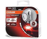 "64193NBS-HCB Лампа ""+100%"" света H4 12V 60/55W P43t NIGHT BREAKER SILVER уп.2шт"